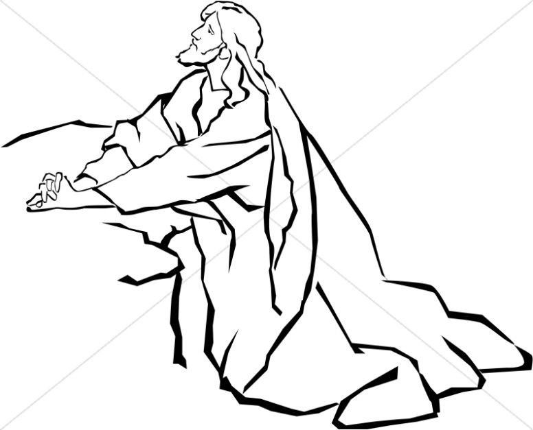 Lds clipart garden of gethsemane black and white svg black and white download Jesus in the Garden of Gethsemane in Black and White ... svg black and white download