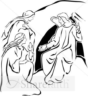 Lds clipart mary jesus tomb banner black and white stock Primary Coloring Page - Mary at the Empty Tomb. #lds #mormons ... banner black and white stock