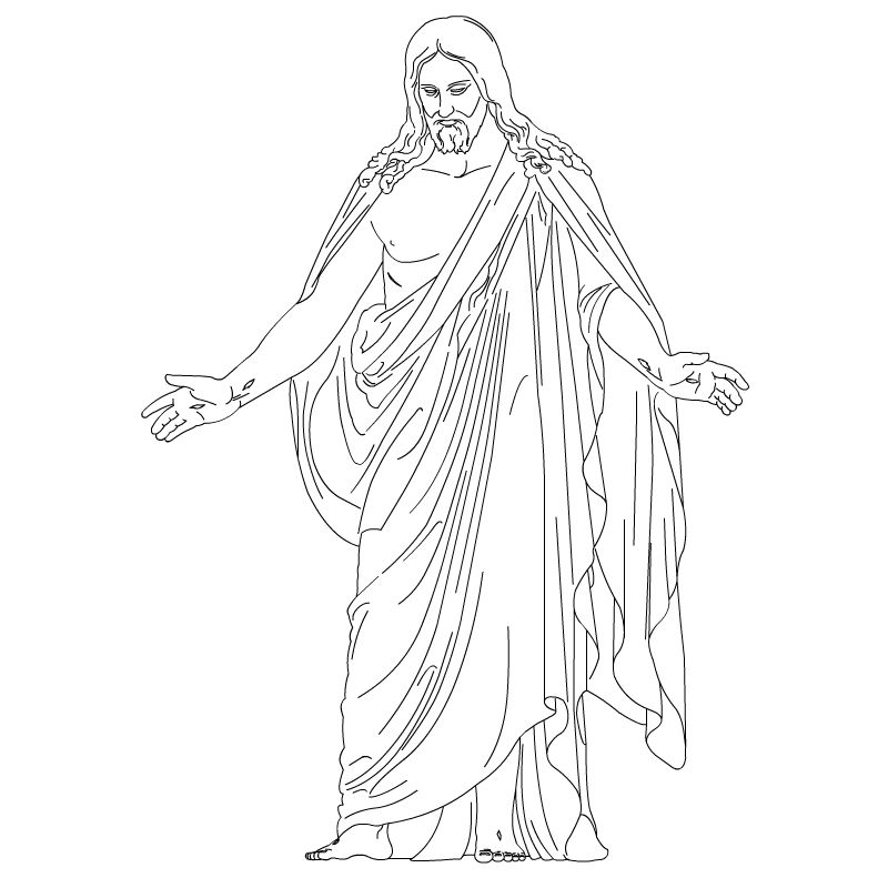 Lds jesus clipart vector black and white LDS Jesus Jesus Clip Art | Christus - Resurrected Lord and ... vector black and white
