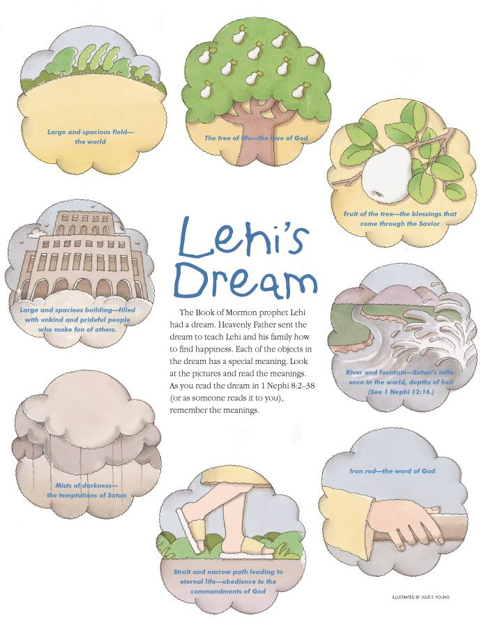 Lds lehi s dream black and white clipart vector black and white stock Lehi\'s Dream - make into a game and print the scripture ... vector black and white stock