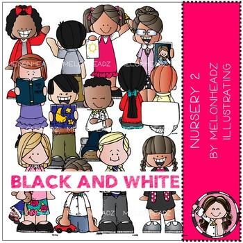 Lds nursery clipart stock Nursery clip art - Set 2 - LDS - BLACK AND WHITE - Melonheadz Clipart stock