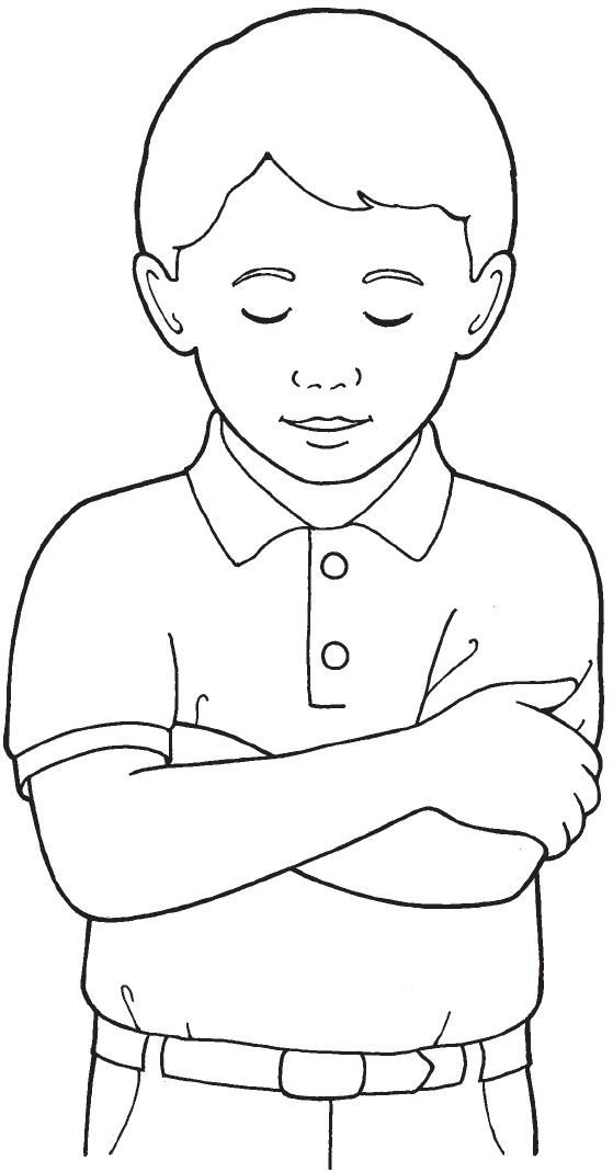 Lds primary black and white clipart about prayer png library download image of child praying | Church | Lds coloring pages ... png library download
