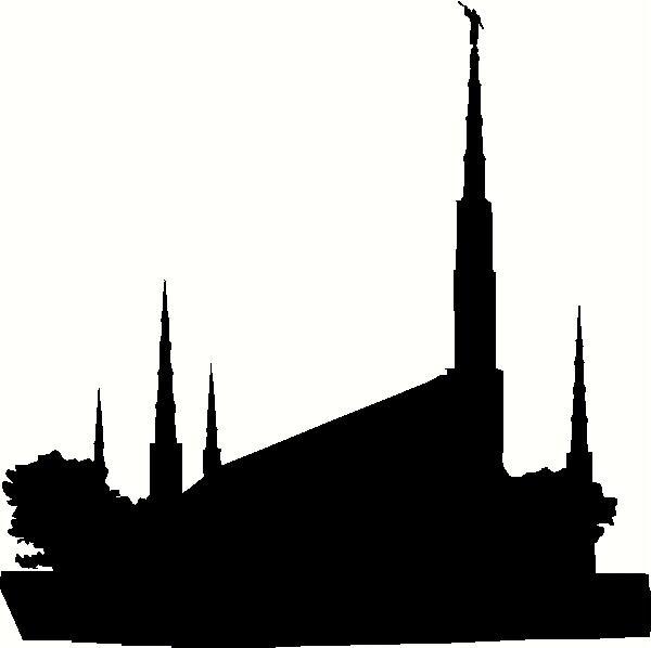 Lds temple silhouette clipart picture black and white LDS Temple Silhouette Clip Art N16 free image picture black and white