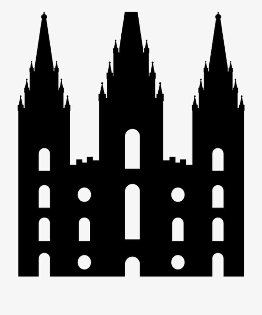 Lds temple silhouette clipart clip black and white stock Lds Temple Clipart Baby Clipart Hatenylo - Salt Lake Temple ... clip black and white stock