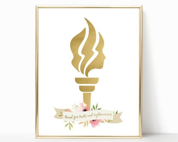Lds yw clipart yw torch value logos camp pinterest clip transparent Young Women Torch Logo, Poster YW, LDS Home Decor, Instant ... clip transparent