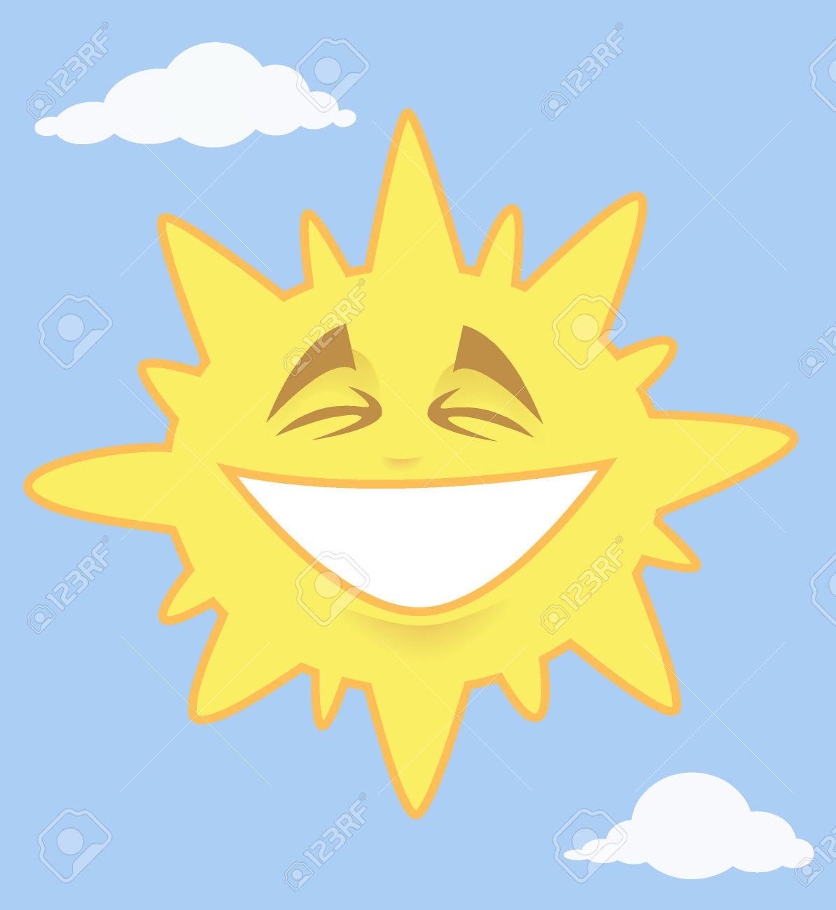 Le ciel clipart picture royalty free Sourire éclatant Soleil Dans Le Ciel Avec Nuages Clip Art Libres ... picture royalty free