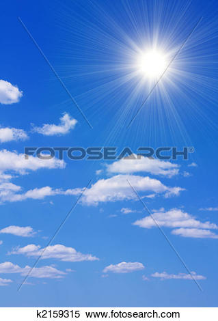 Le ciel clipart svg free library Stock Illustration of Bright sun in the blue sky k2159315 - Search ... svg free library