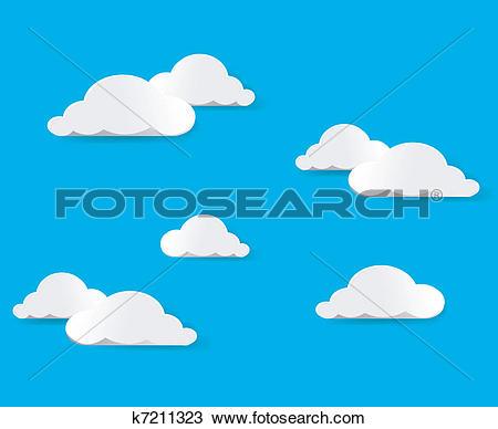 Le ciel clipart banner transparent Clipart of Sky And Clouds. Vector illustration k7211323 - Search ... banner transparent