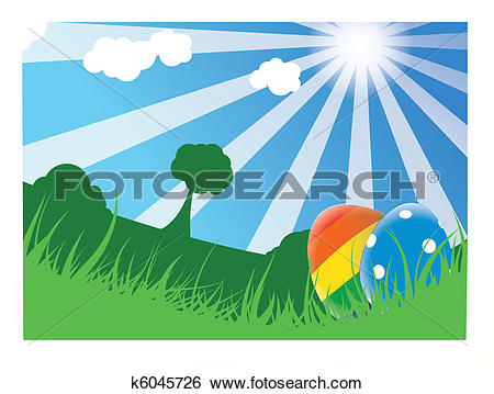 Le jour clipart image black and white Clip Art of Easter day k6045726 - Search Clipart, Illustration ... image black and white