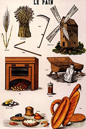 Le pain clipart graphic black and white library Amazon.com: LE PAIN BREAD FOOD FRENCH PARIS VINTAGE POSTER REPRO ... graphic black and white library