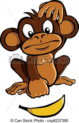 Le singe clipart svg transparent Clipart Vecteur de singe, dessin animé, banane - dessin animé ... svg transparent