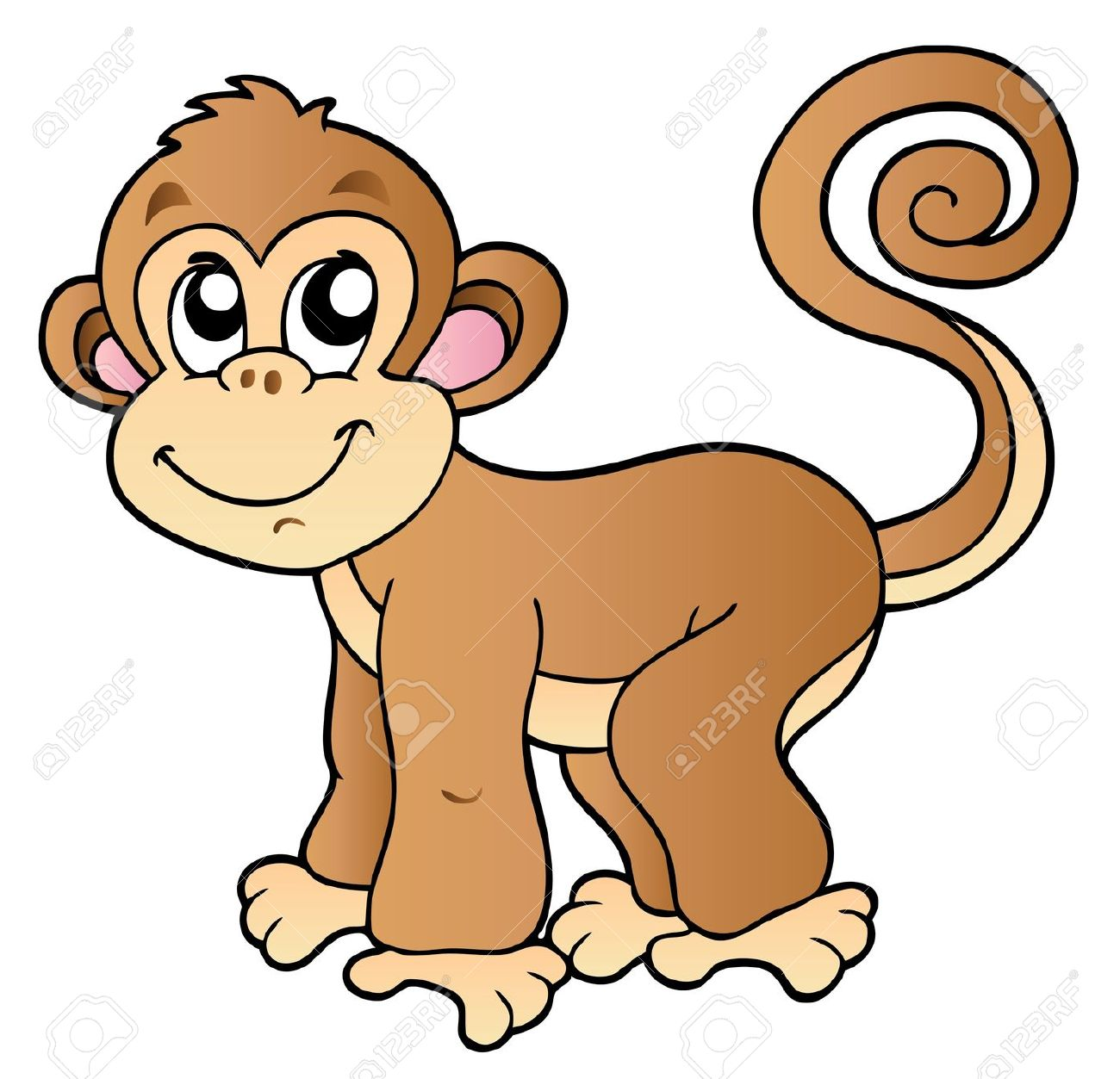 Le singe clipart vector free library Clip Art 11 - Sonia.1 - Picasa Web Albums | Cute Clipart ... vector free library