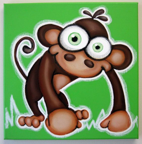 Le singe clipart graphic transparent Singe - 12 x 12 d'origine peinture sur toile, sticker de singe ... graphic transparent