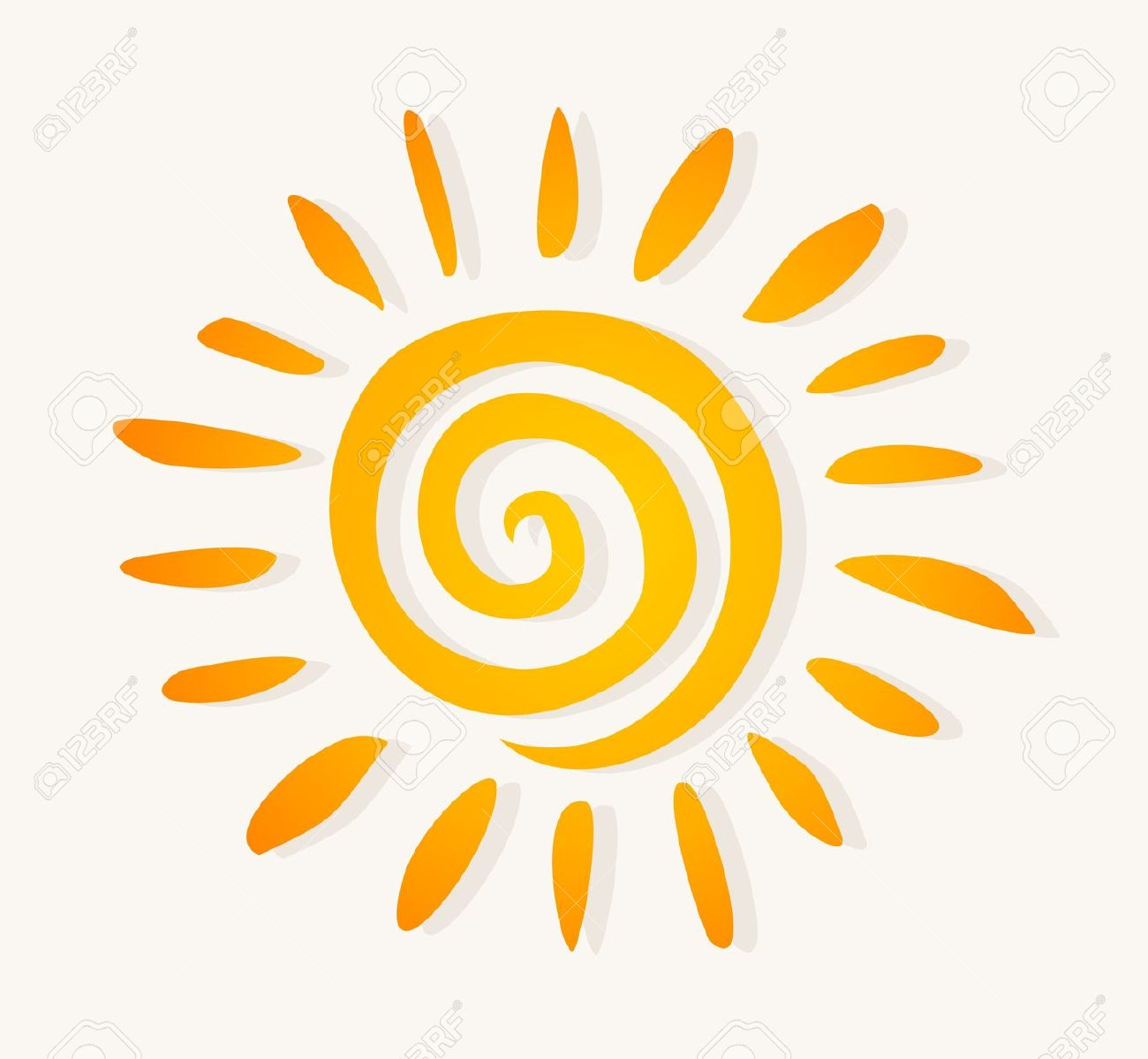 Le soleil clipart jpg royalty free stock Le Soleil Dessiné Sur Un Fond Blanc. Une Illustration Vectorielle ... jpg royalty free stock