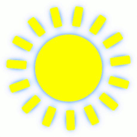 Le soleil clipart