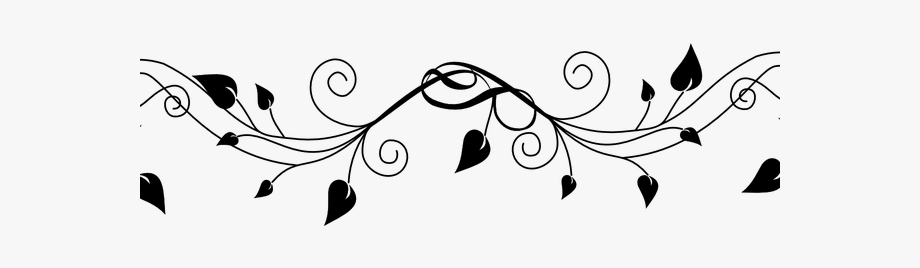 Leaf border clipart black and white banner freeuse library Flowers Borders Clipart Transparent - Black And White Flower And ... banner freeuse library