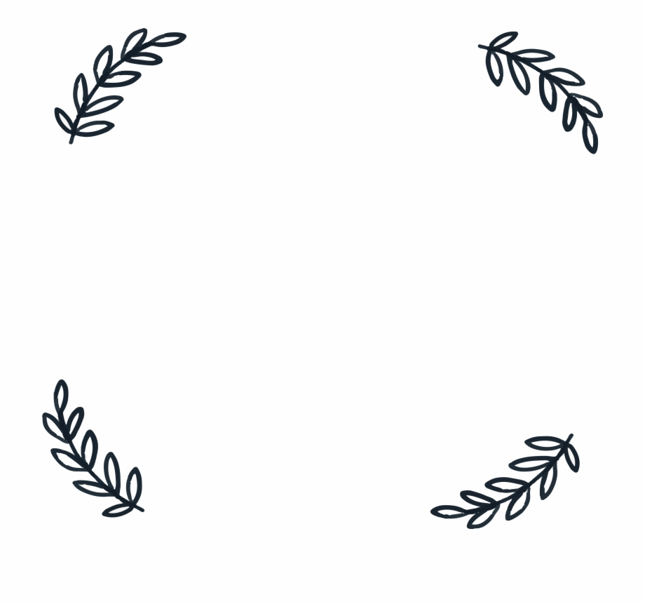 Leaf border clipart black and white royalty free library For Free - Simple Leaf Borders Png Free PNG Images & Clipart ... royalty free library