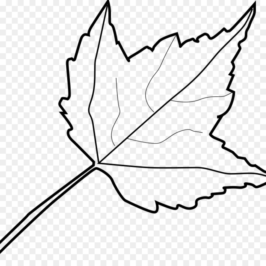 Leaf clipart color svg library library Black And White Flower clipart - Leaf, Drawing, Plant, transparent ... svg library library