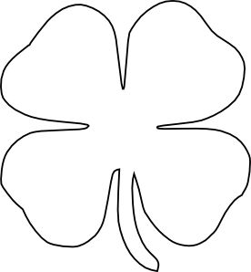 Leaf clipart outline different sizes clipart black and white stock St. Patrick's Day Shamrock Cake | Creative, Clip art and Cakes clipart black and white stock
