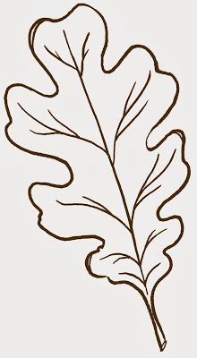 Leaf clipart outline different sizes image black and white library 1000+ images about Printables Leaves on Pinterest | Oak leaves ... image black and white library