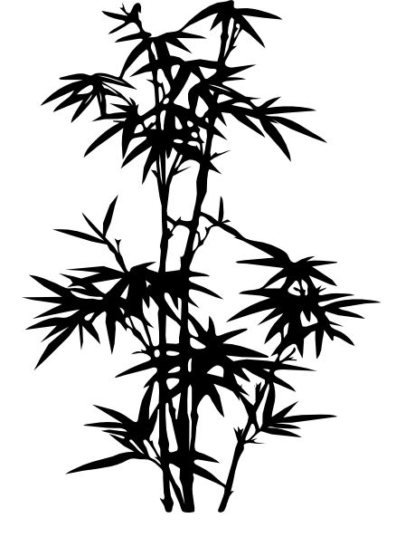 Leaf clipart outline differnt sizes picture freeuse library bamboo outline - Google Search   FLOWERS   Pinterest   Search ... picture freeuse library