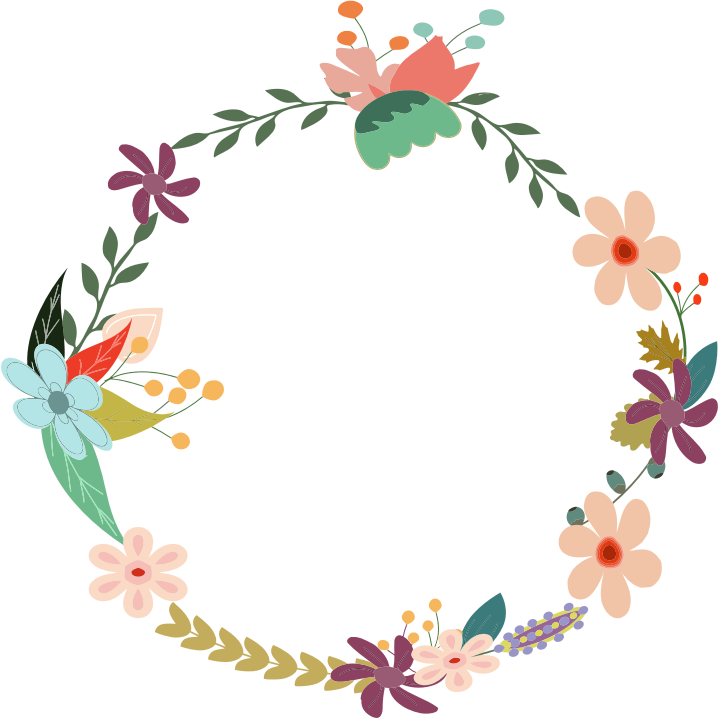 Leaf crown clipart royalty free stock Flower circle clipart - Clipground royalty free stock