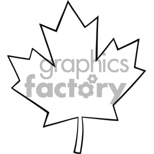 Leaf line clipart banner transparent Royalty Free RF Clipart Illustration Outlined Canadian Maple Leaf Line  Cartoon Drawing Vector Illustration Isolated On White Background clipart.  ... banner transparent
