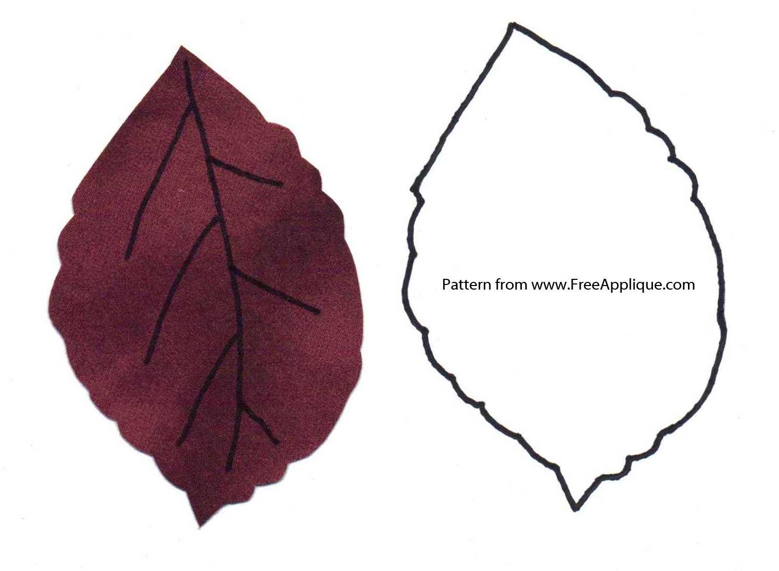 Leaf patterns clipart clip art freeuse download Printable Leaf Patterns for Applique, Quilting, Crafts or Clipart clip art freeuse download