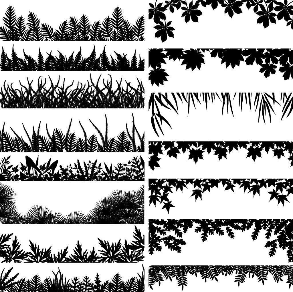 Leaf row silhouette clipart svg transparent download Vector / Free Vectors Download / 4Vector svg transparent download