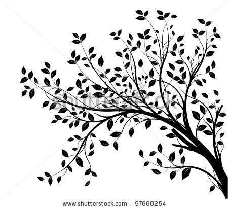 Leaf row silhouette clipart image library library Top 25 ideas about 1s Tree Silhouettes on Pinterest | Clip art ... image library library