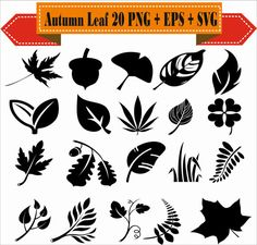 Leaf row silhouette clipart clipart free Free Graphics: Vector Leaf Silhouette | Free Vectors | Pinterest ... clipart free