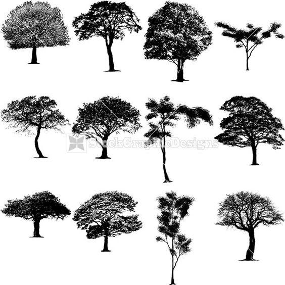 Leaf row silhouette clipart clip black and white Leaf row silhouette clipart - ClipartFest clip black and white