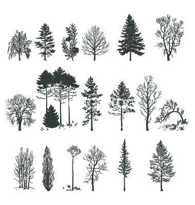 Leaf row silhouette clipart clip 17 Best ideas about Tree Silhouette on Pinterest | Tree silhouette ... clip