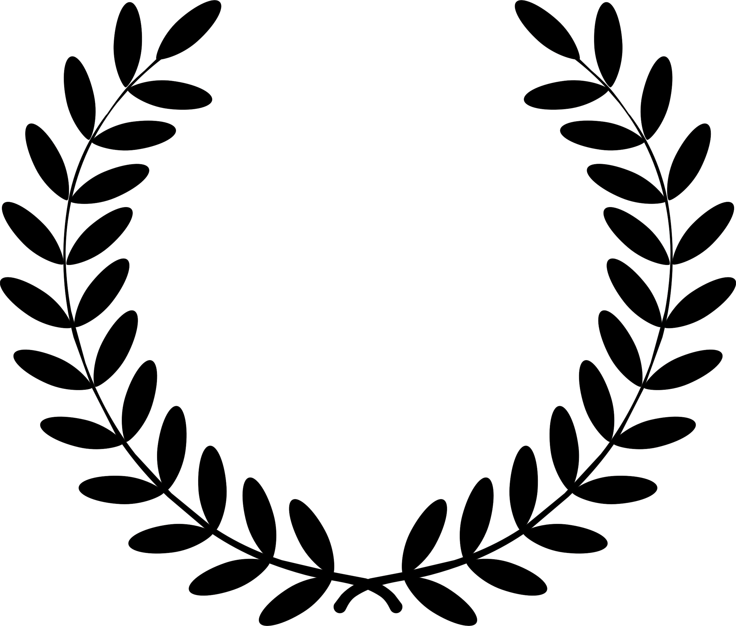 Leaf with crown clipart picture black and white stock 28+ Collection of Laurel Clipart | High quality, free cliparts ... picture black and white stock