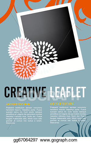 Leaflet design clipart picture free stock Vector Art - Leaflet design. EPS clipart gg67064297 - GoGraph picture free stock