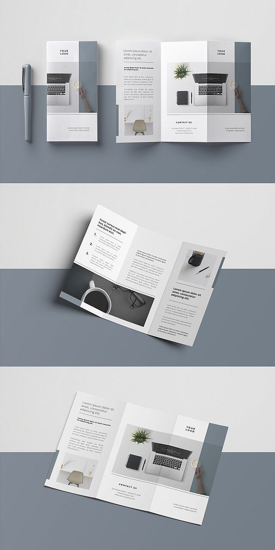 Leaflet design clipart svg black and white stock 3627 Free Best Business Brochures Templates in PSD | Digital ... svg black and white stock