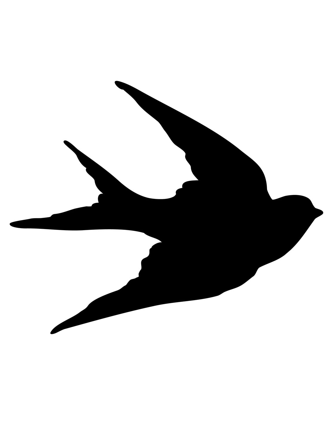 Leaning bird silhouette clipart black and white graphic library download Free Silhouettes, Download Free Clip Art, Free Clip Art on Clipart ... graphic library download