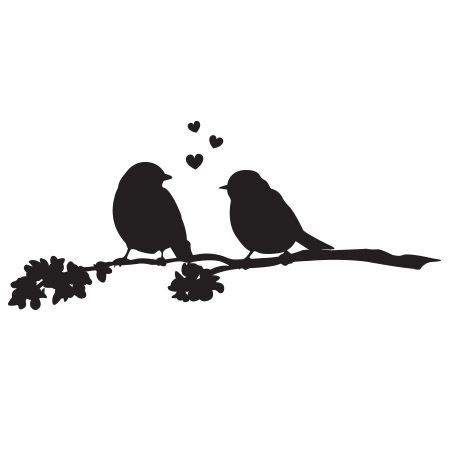 Leaning bird silhouette clipart black and white picture black and white love birds clip art free | Love Birds Kissing Silhouette | love ... picture black and white