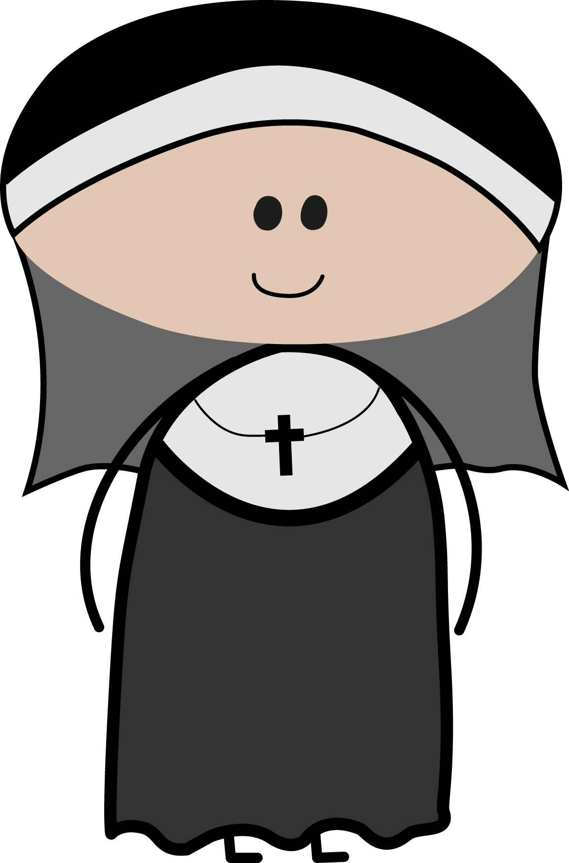 Leaning cross clipart picture royalty free stock cute nun clipart | Vector Cliparts | Pinterest picture royalty free stock