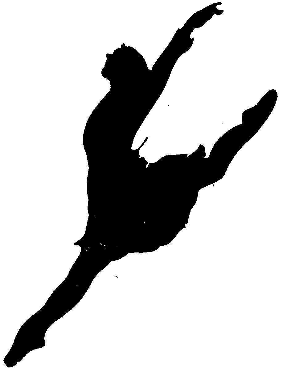 White dancer silhouette clipart vector free stock Free Leaping Dancer Silhouette, Download Free Clip Art, Free Clip ... vector free stock