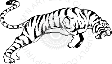 Leaping tiger clipart banner Tiger leaping image banner
