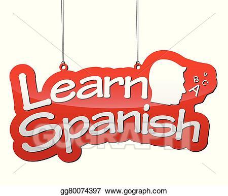 Learn spanish clipart svg stock Vector Stock - Background learn spanish. Clipart Illustration ... svg stock