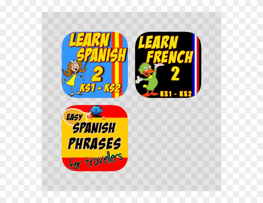 Learn spanish clipart image royalty free library Learn Spanish & French For Kids And Beginners - Cartoon Clipart ... image royalty free library
