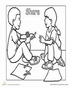 Learning life skills clipart black and white kids banner black and white download 9 Best printable rules images in 2017   Coloring Pages, Coloring ... banner black and white download