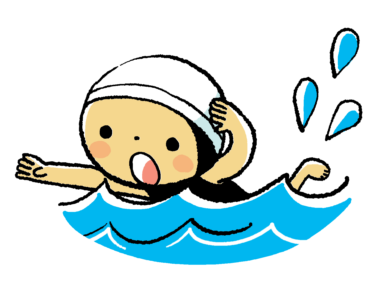 Learning to swim clipart png royalty free download Little Girl Swimming Clipart | Free download best Little Girl ... png royalty free download