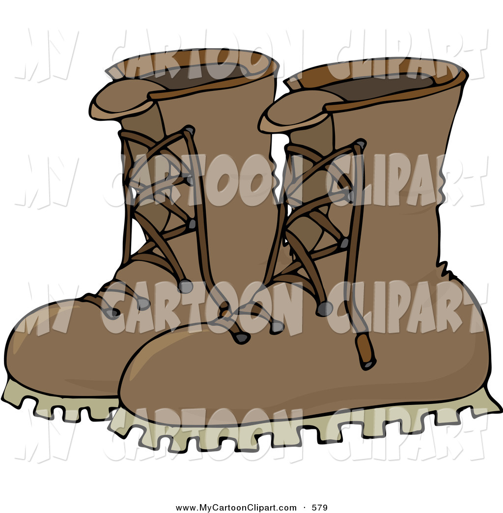 Leather boots clipart graphic royalty free library Clip Art of a Pair of Leather Boots on White by djart - #579 graphic royalty free library