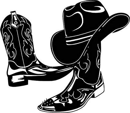 Leather boots clipart png free library Amazon.com: EvelynDavid Cowboy Leather Boots Hat Style Rodeo Shoes ... png free library