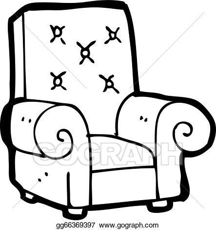 Recliner chair vector clipart black and white banner free EPS Illustration - Cartoon leather chair. Vector Clipart gg66369397 ... banner free