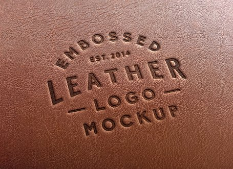 Leather logo clipart picture library Free Leather Stamping Logo MockUp #2 Clipart and Vector Graphics ... picture library