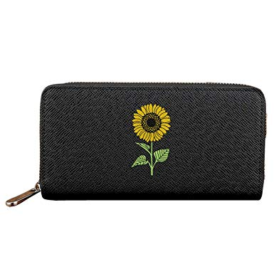 Leather wallet clipart banner freeuse Sunflower Clipart Women Leather Wallets Zipper Clutch Purse at ... banner freeuse